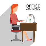 Office and business people Royalty Free Stock Images