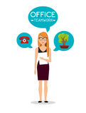 Office and business people Royalty Free Stock Photo
