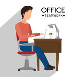 Office and business people Royalty Free Stock Image