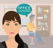 Office and business people Royalty Free Stock Photos