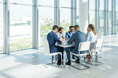 In office. Business people at meeting in office Stock Photography