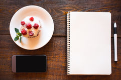 Office business set. lunch. Royalty Free Stock Photography