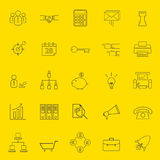 Office and business thin line icons Stock Images