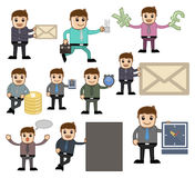 Office and Business Vector Cartoon Character Illustration - Various Poses Royalty Free Stock Image