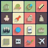 Office and Business Vector Flat Icons Royalty Free Stock Photos