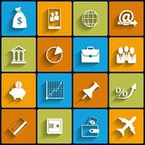 Office and Business Vector Flat Icons Royalty Free Stock Image