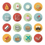 Office and Business Vector Flat Icons. This is file of EPS10 format Royalty Free Stock Images
