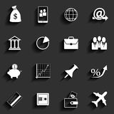 Office and Business Vector Flat Icons Royalty Free Stock Photo