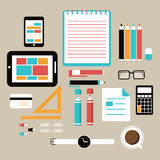 Office and business work elements Stock Image