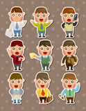 Office businessman stickers Stock Photography