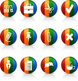 Office   buttons. Stock Photo