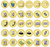 Office buttons Royalty Free Stock Photo