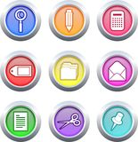Office buttons vector illustration