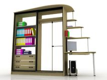 Office cabinet for documents. 3D images Stock Photos