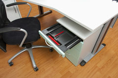 Office cabinet and drawer in white Stock Photography