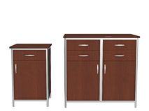 Office cabinets Royalty Free Stock Image