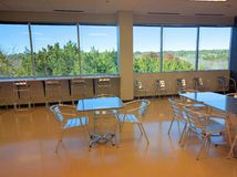 Office cafeteria with tables Royalty Free Stock Photography