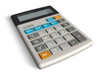 Office calculator. Modern office calculator isolated over white background Stock Images