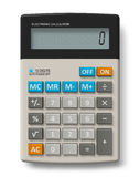 Office calculator. Modern office calculator isolated over white background Royalty Free Stock Photos