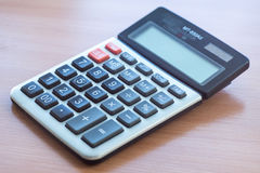 Office Calculator Close Up Stock Images