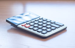 Office Calculator Close Up Royalty Free Stock Images