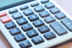 Office Calculator Close Up Royalty Free Stock Image