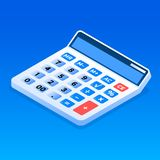 Office calculator icon, isometric style. Office calculator icon. Isometric of office calculator vector icon for web design isolated stock illustration