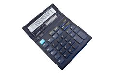 Office calculator isolated on the white Royalty Free Stock Image