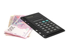 Office calculator Ukrainian Hryvnia Royalty Free Stock Images