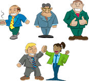 Office caricatures. Vector caricatures of office workers vector illustration