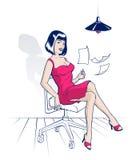 Office cartoon woman Stock Image