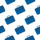 Office case symbol seamless pattern. Briefcase icon backdrop stock illustration