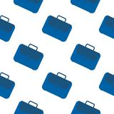 Office case symbol seamless pattern. Briefcase icon backdrop royalty free illustration
