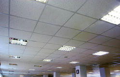 An office ceiling. With lamps Stock Photography