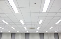 Office ceiling. Office building ceiling construction equipment stock photo