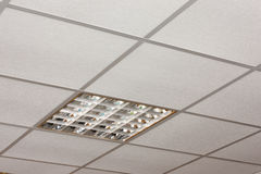 Free Office Ceiling Lamp Close-up Diagonal View Royalty Free Stock Photography - 26028567