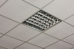 Office ceiling lamp close-up view Stock Images