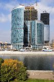 Office center construction 1. View at construction site of Moscow business center Stock Image