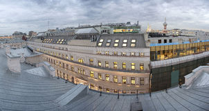 Office center housing. View over the roofs and the old Moscow office center Stock Photography