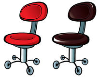 Office Chair. Image of the Office Chair on wheels royalty free illustration