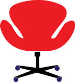 Office Chair. Illustration design of a office Chair with white background Stock Photos