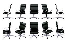 Office chair. In difference perspective view Stock Photos