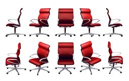 Office chair. In difference perspective view Royalty Free Stock Image