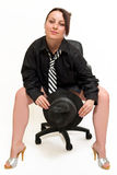 On the office chair Royalty Free Stock Image