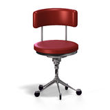 Office chair. Old fashioned office chair or from medical practise - with Clipping Path Stock Photo