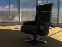 Office Chair. Comfortable new chair in a modern office Royalty Free Stock Photos