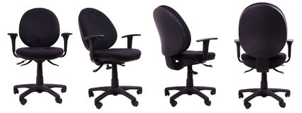 Office chair. Comfortable office chair with four different positions Royalty Free Stock Image