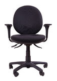 Office chair. Front view of isolated office chair Royalty Free Stock Images