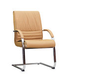 The office chair from beige leather Stock Photography