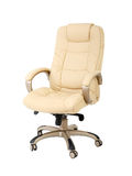 The office chair from beige leather Royalty Free Stock Photography